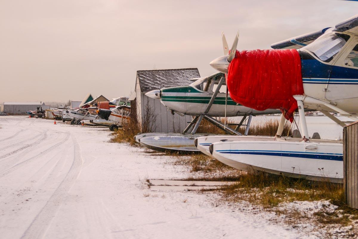 sea planes snow