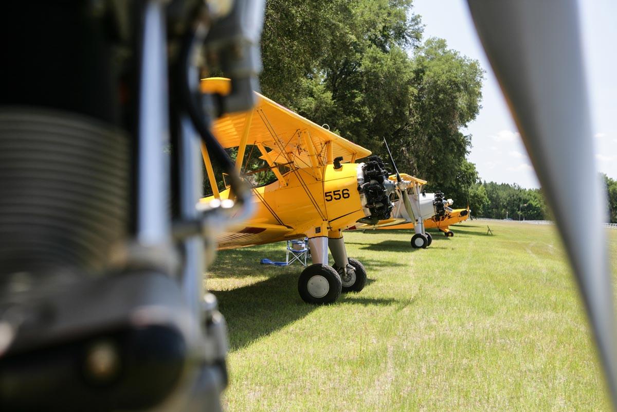 biplane on ground